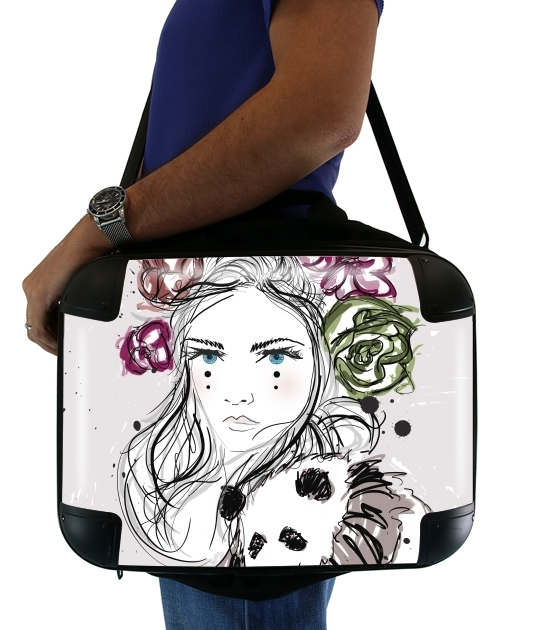 "Miss Mime for Laptop briefcase 15"" / Notebook / Tablet"