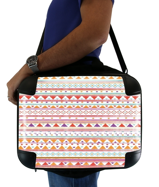 "Laptop briefcase 15"" / Notebook / Tablet for Native Bandana Aztec"