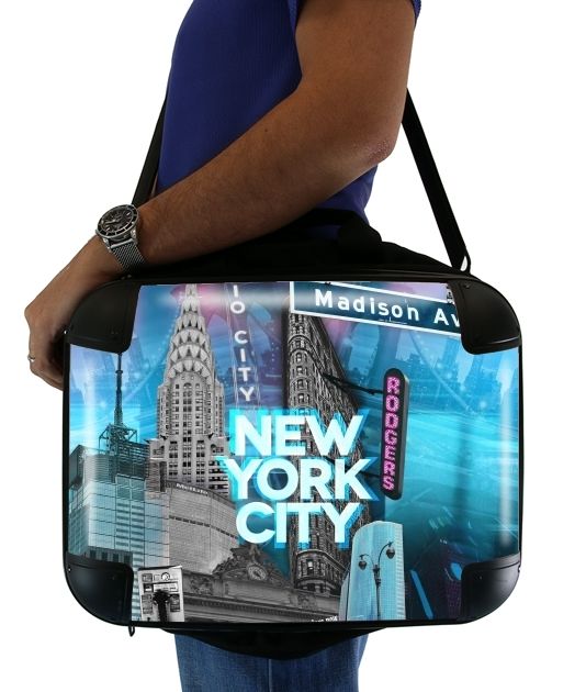 "New York City II [blue] for Laptop briefcase 15"" / Notebook / Tablet"
