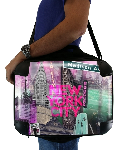 "New York City II [pink] for Laptop briefcase 15"" / Notebook / Tablet"