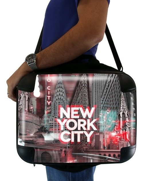 "New York City II [red] for Laptop briefcase 15"" / Notebook / Tablet"