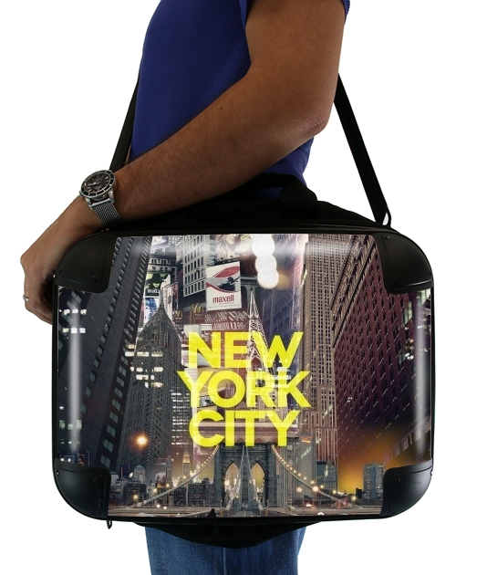 "New York City II [yellow] for Laptop briefcase 15"" / Notebook / Tablet"