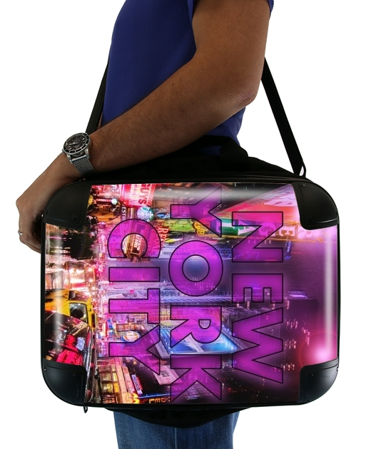 "New York City - Broadway Color for Laptop briefcase 15"" / Notebook / Tablet"