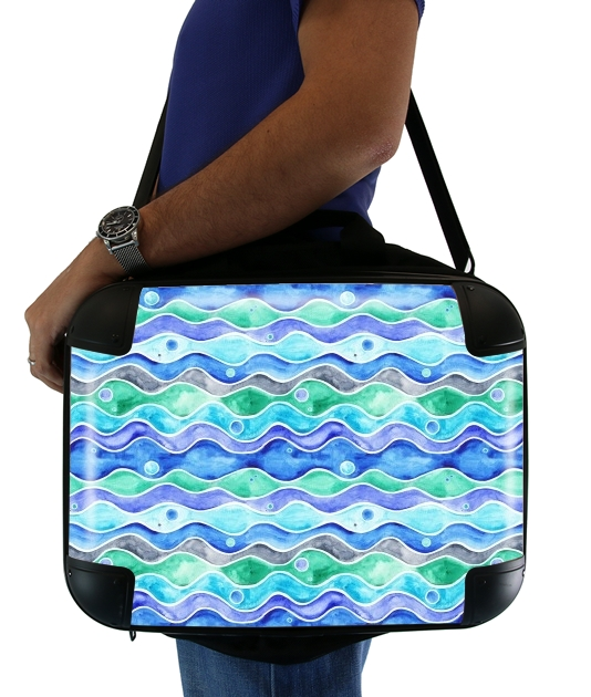 "Ocean Pattern for Laptop briefcase 15"" / Notebook / Tablet"