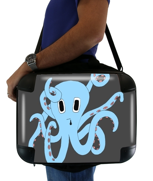 "octopus Blue cartoon for Laptop briefcase 15"" / Notebook / Tablet"