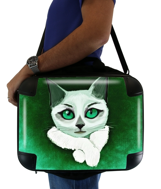 "Painting Cat for Laptop briefcase 15"" / Notebook / Tablet"