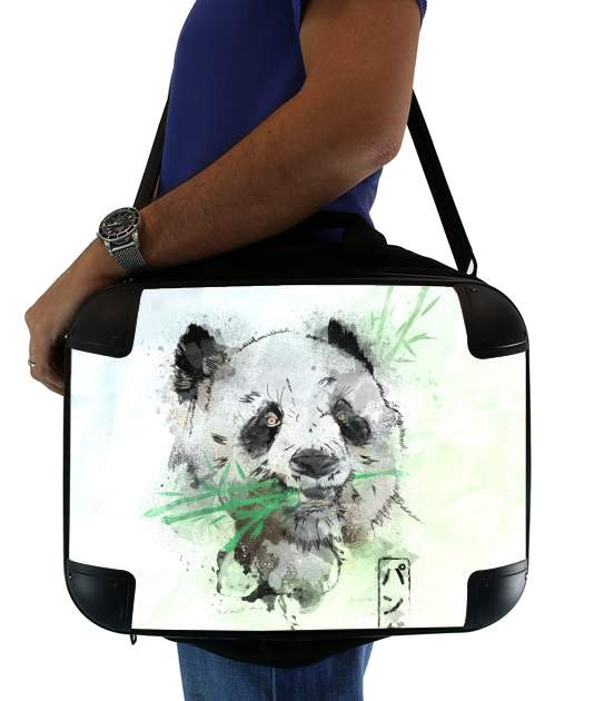 "Panda Watercolor for Laptop briefcase 15"" / Notebook / Tablet"