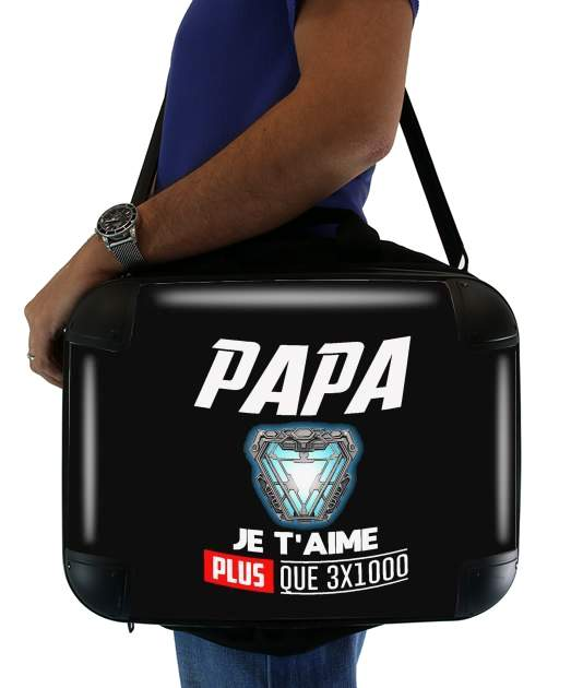 "Papa je taime plus que 3x1000 for Laptop briefcase 15"" / Notebook / Tablet"