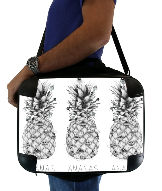 "PineApplle for Laptop briefcase 15"" / Notebook / Tablet"