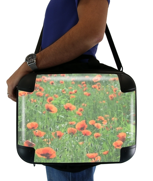 "POPPY FIELD for Laptop briefcase 15"" / Notebook / Tablet"
