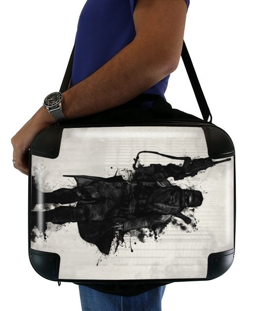 "Post Apocalyptic Warrior for Laptop briefcase 15"" / Notebook / Tablet"