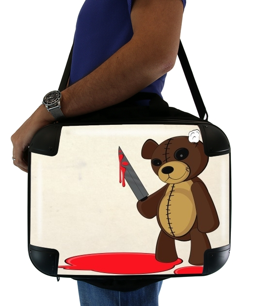 "Psycho Teddy for Laptop briefcase 15"" / Notebook / Tablet"