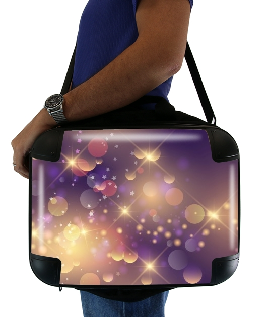 "Purple Sparkles for Laptop briefcase 15"" / Notebook / Tablet"