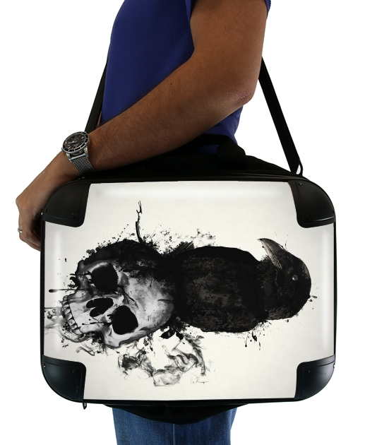 "Raven and Skull for Laptop briefcase 15"" / Notebook / Tablet"
