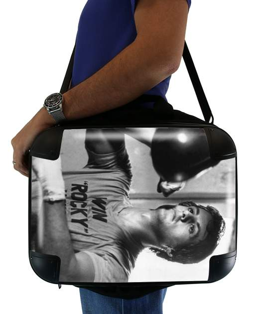 "Rocky Balboa Training Punchingball for Laptop briefcase 15"" / Notebook / Tablet"