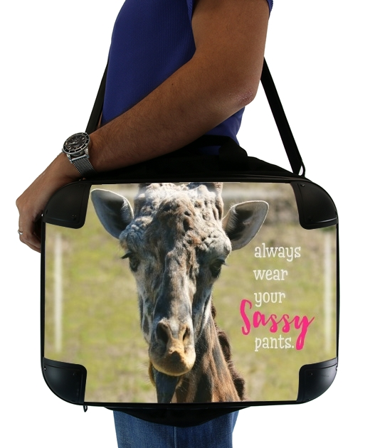 "Sassy Pants Giraffe for Laptop briefcase 15"" / Notebook / Tablet"