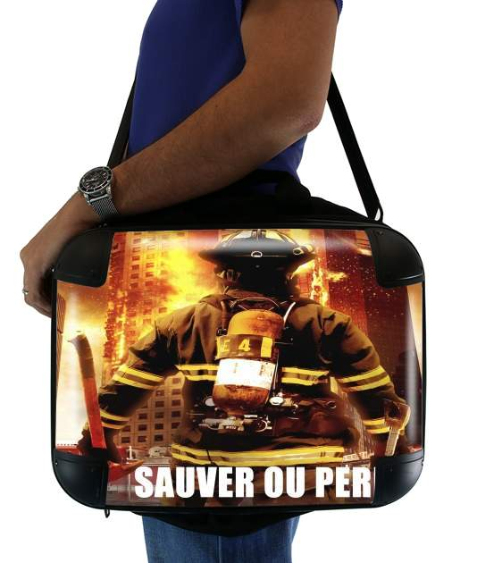 "Save or perish Firemen fire soldiers for Laptop briefcase 15"" / Notebook / Tablet"