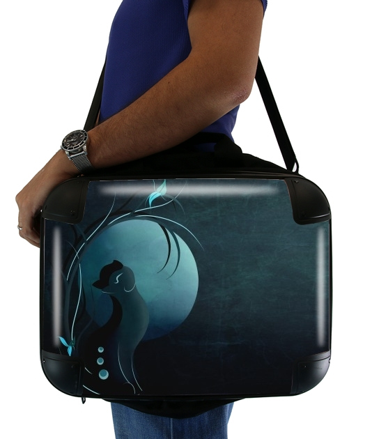 "Sensual Cat in the Moonlight  for Laptop briefcase 15"" / Notebook / Tablet"