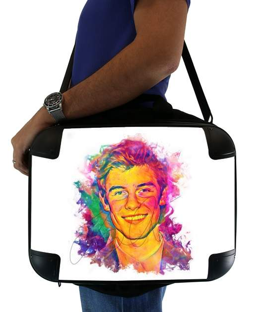 "Shawn Mendes - Ink Art 1998 for Laptop briefcase 15"" / Notebook / Tablet"