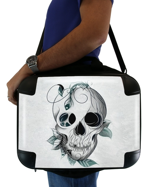"Skull Boho  for Laptop briefcase 15"" / Notebook / Tablet"