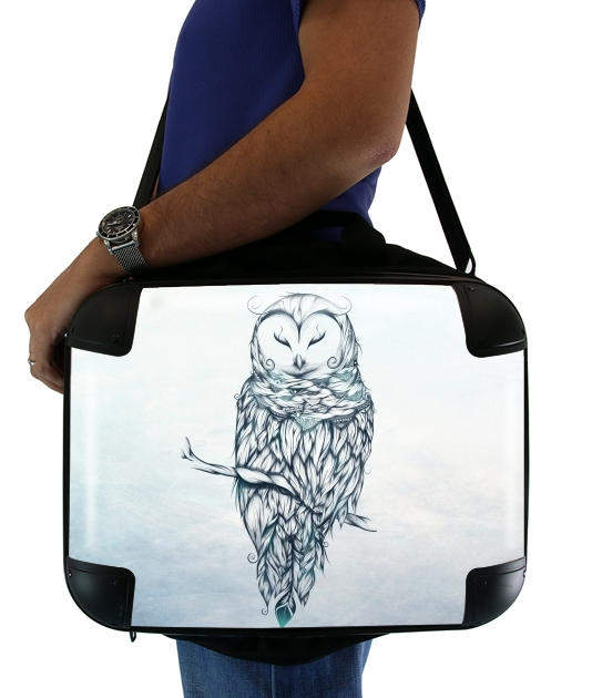 "Snow Owl for Laptop briefcase 15"" / Notebook / Tablet"