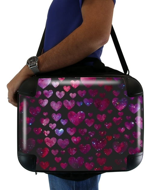 "Space Hearts for Laptop briefcase 15"" / Notebook / Tablet"