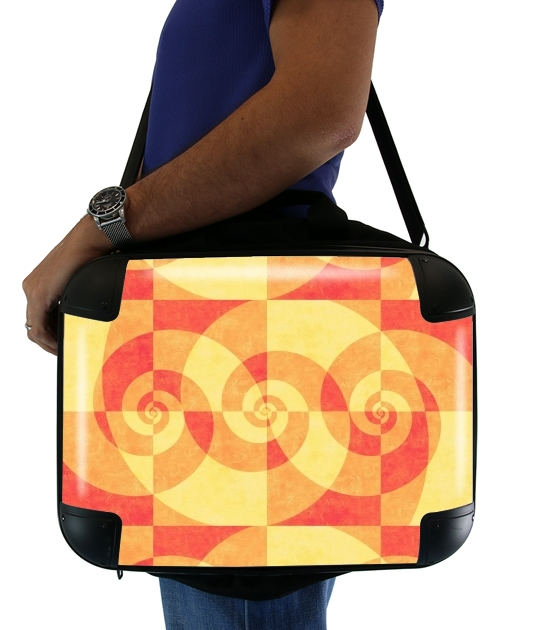 "SPIRAL ORANGE for Laptop briefcase 15"" / Notebook / Tablet"