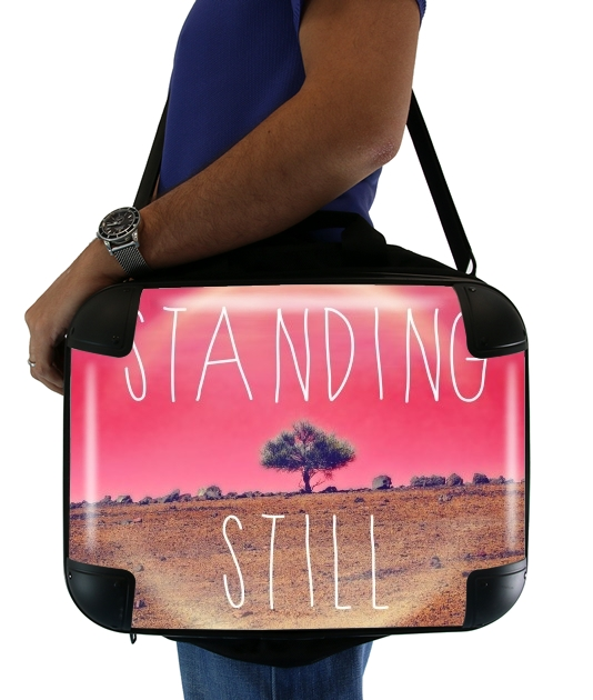 "Standing Still for Laptop briefcase 15"" / Notebook / Tablet"