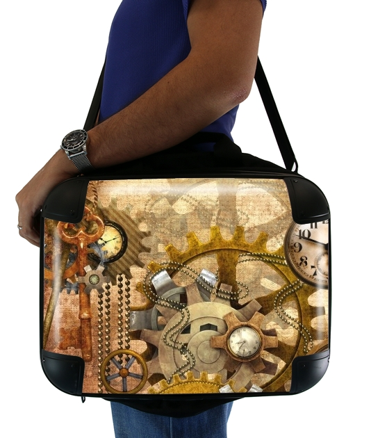 "steampunk for Laptop briefcase 15"" / Notebook / Tablet"