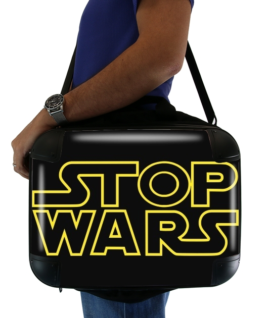 "Stop Wars for Laptop briefcase 15"" / Notebook / Tablet"