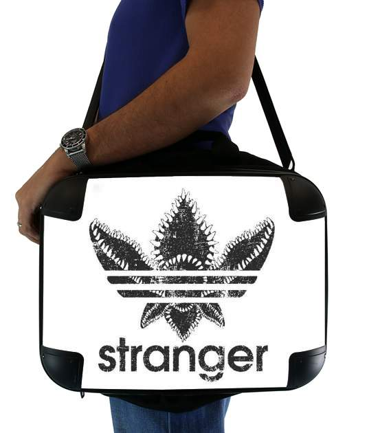 "Stranger Things Demogorgon Monster JOKE Adidas Parodie Logo Serie TV for Laptop briefcase 15"" / Notebook / Tablet"