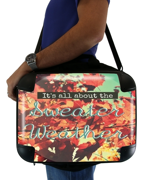 "Sweater Weather for Laptop briefcase 15"" / Notebook / Tablet"