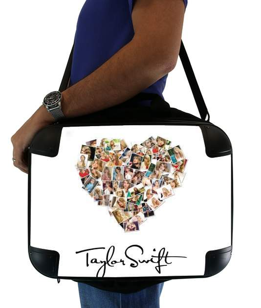 "Taylor Swift Love Fan Collage signature for Laptop briefcase 15"" / Notebook / Tablet"