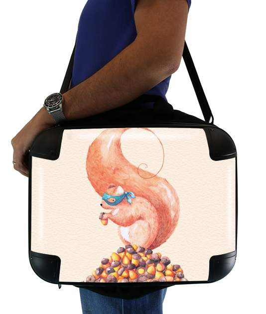 "The Bandit Squirrel for Laptop briefcase 15"" / Notebook / Tablet"