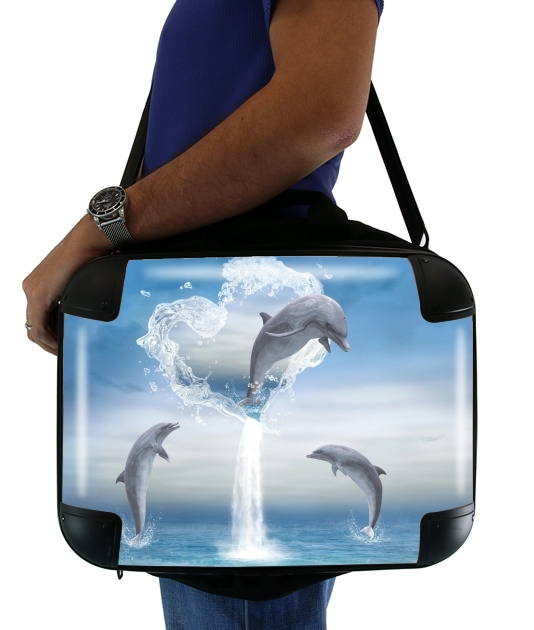 "The Heart Of The Dolphins for Laptop briefcase 15"" / Notebook / Tablet"