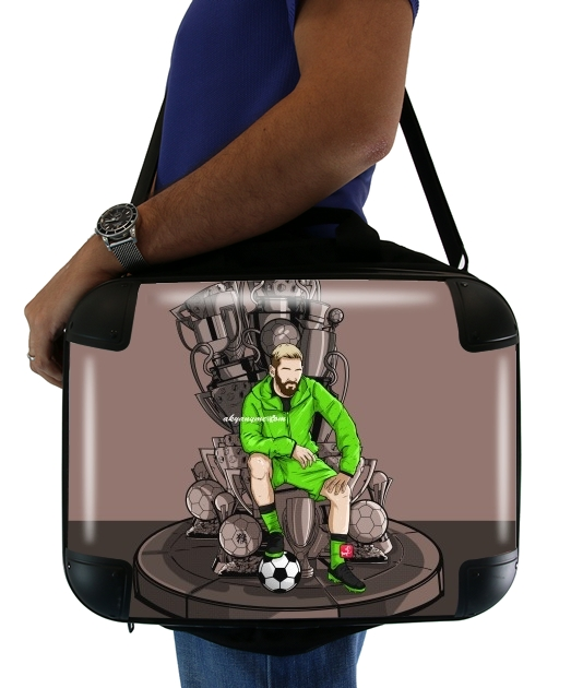 "The King on the Throne of Trophies for Laptop briefcase 15"" / Notebook / Tablet"