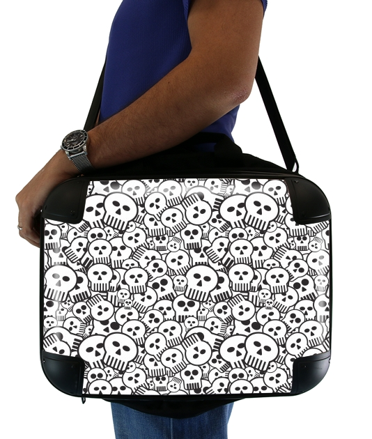 "toon skulls, black and white for Laptop briefcase 15"" / Notebook / Tablet"