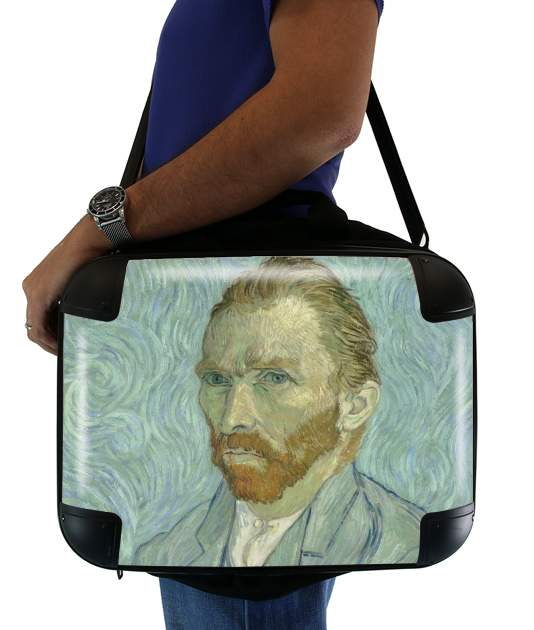 "Van Gogh Self Portrait for Laptop briefcase 15"" / Notebook / Tablet"