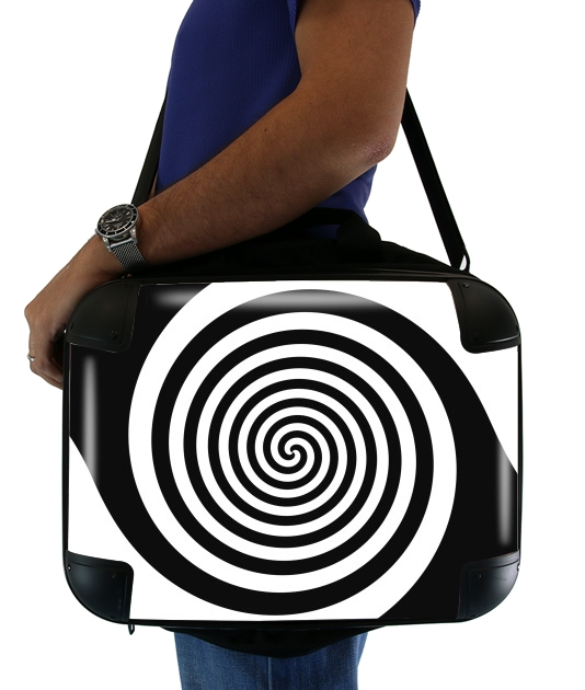 "Hypnotic Vertigo for Laptop briefcase 15"" / Notebook / Tablet"