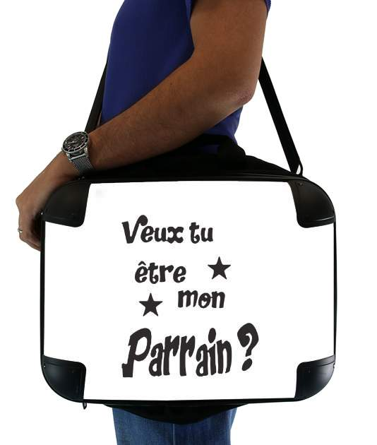 "Veux tu etre mon parrain for Laptop briefcase 15"" / Notebook / Tablet"