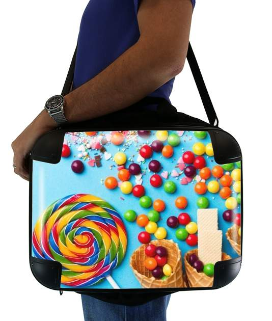 "Waffle Cone Candy Lollipop for Laptop briefcase 15"" / Notebook / Tablet"