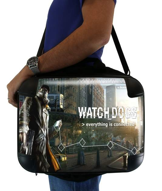 "Watch Dogs Everything is connected for Laptop briefcase 15"" / Notebook / Tablet"