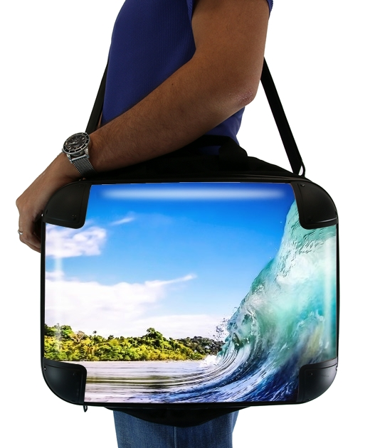 "Wave Wall for Laptop briefcase 15"" / Notebook / Tablet"