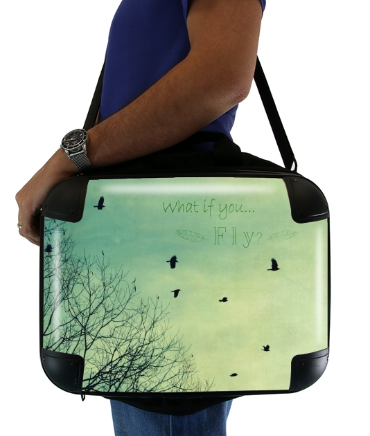 "What if You Fly? for Laptop briefcase 15"" / Notebook / Tablet"