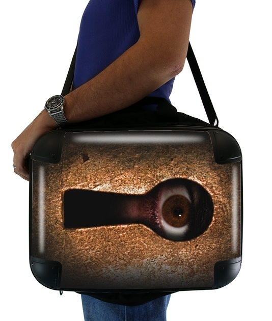 "Who is watching you for Laptop briefcase 15"" / Notebook / Tablet"