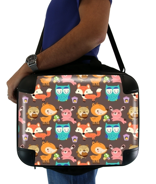 "Woodland friends for Laptop briefcase 15"" / Notebook / Tablet"