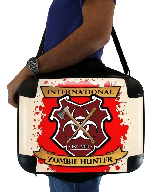 "Zombie Hunter for Laptop briefcase 15"" / Notebook / Tablet"