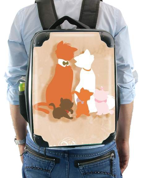 Les aristochats minimalist art for Backpack
