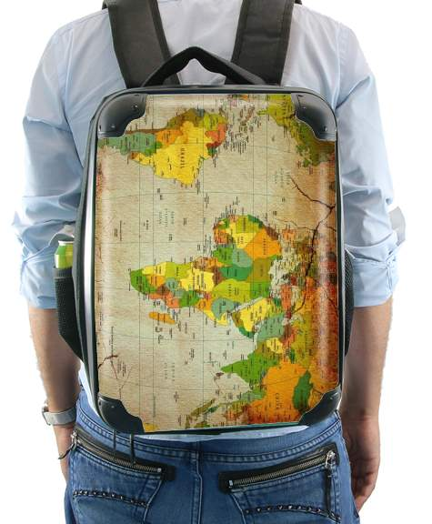 World Map for Backpack