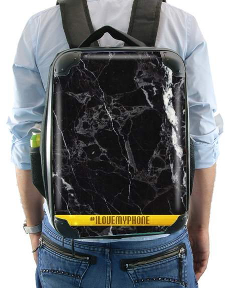 Minimal Marble Black for Backpack